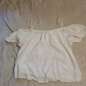 Old navy shirt size large white off shoulder